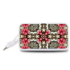 Flowers Fabric Portable Speaker (white) by Amaryn4rt