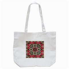 Flowers Fabric Tote Bag (white) by Amaryn4rt