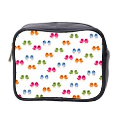 Pattern Birds Cute Design Nature Mini Toiletries Bag 2 Side by Amaryn4rt