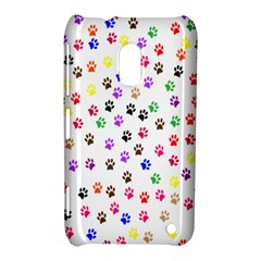 Paw Prints Background Nokia Lumia 620 by Amaryn4rt