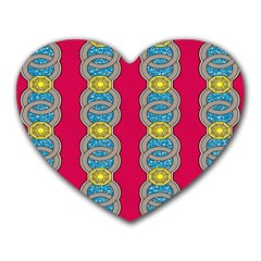 African Fabric Iron Chains Red Yellow Blue Grey Heart Mousepads by Alisyart
