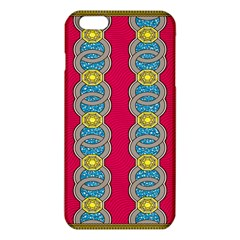 African Fabric Iron Chains Red Yellow Blue Grey Iphone 6 Plus/6s Plus Tpu Case by Alisyart