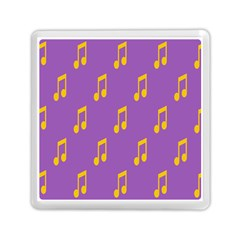 Eighth Note Music Tone Yellow Purple Memory Card Reader (square)  by Alisyart