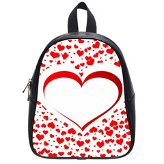 Love Red Hearth School Bags (small)  by Amaryn4rt