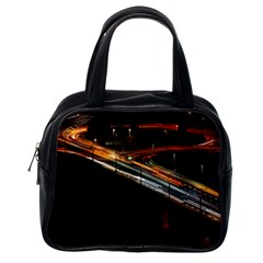 Highway Night Lighthouse Car Fast Classic Handbags (one Side) by Amaryn4rt