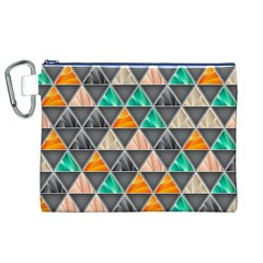 Abstract Geometric Triangle Shape Canvas Cosmetic Bag (xl) by Amaryn4rt