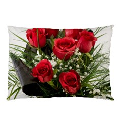 Red Roses Roses Red Flower Love Pillow Case (two Sides)