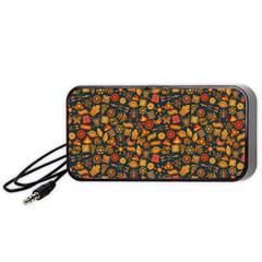 Pattern Background Ethnic Tribal Portable Speaker (black)