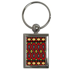 Toraja Traditional Art Pattern Key Chains (rectangle)  by Amaryn4rt