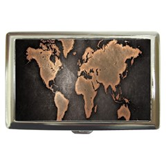 Grunge Map Of Earth Cigarette Money Cases by Amaryn4rt