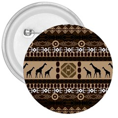 African Vector Patterns  3  Buttons by Amaryn4rt