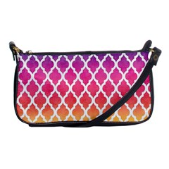 Colorful Rainbow Moroccan Pattern Shoulder Clutch Bags by Amaryn4rt