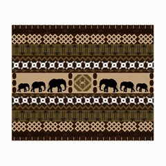 African Vector Patterns  Small Glasses Cloth (2 Side) by Amaryn4rt