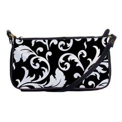 Vector Classical Traditional Black And White Floral Patterns Shoulder Clutch Bags
