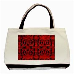 3d Metal Pattern On Wood Basic Tote Bag