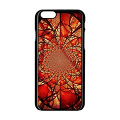 Dreamcatcher Stained Glass Apple Iphone 6/6s Black Enamel Case by Amaryn4rt