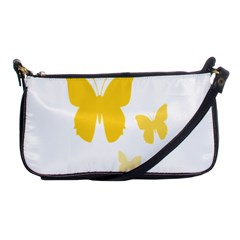 Yellow Butterfly Animals Fly Shoulder Clutch Bags by Alisyart