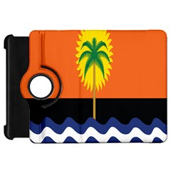 Coconut Tree Wave Water Sun Sea Orange Blue White Yellow Green Kindle Fire Hd 7  by Alisyart