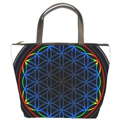 Flower Of Life Bucket Bags by Onesevenart