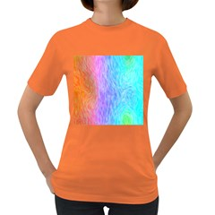Abstract Color Pattern Textures Colouring Women s Dark T Shirt