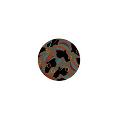 African Women Ethnic Pattern 1  Mini Buttons