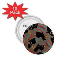 African Women Ethnic Pattern 1 75  Buttons (10 Pack)