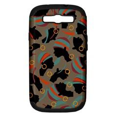 African Women Ethnic Pattern Samsung Galaxy S Iii Hardshell Case (pc+silicone)