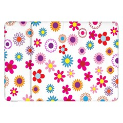 Colorful Floral Flowers Pattern Samsung Galaxy Tab 8 9  P7300 Flip Case by Simbadda