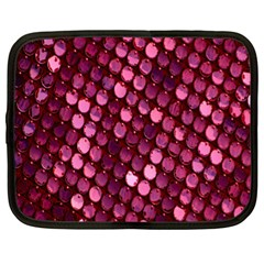 Red Circular Pattern Background Netbook Case (xl)  by Simbadda