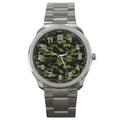 Camo Pattern Sport Metal Watch