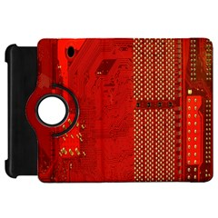 Computer Texture Red Motherboard Circuit Kindle Fire Hd 7  by Simbadda