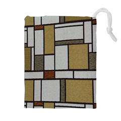 Fabric Textures Fabric Texture Vintage Blocks Rectangle Pattern Drawstring Pouches (extra Large) by Simbadda