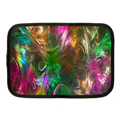 Fractal Texture Abstract Messy Light Color Swirl Bright Netbook Case (medium)  by Simbadda
