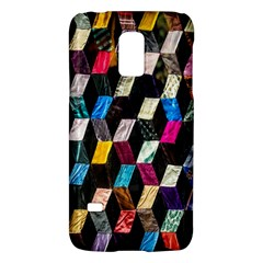 Abstract Multicolor Cubes 3d Quilt Fabric Galaxy S5 Mini by Onesevenart