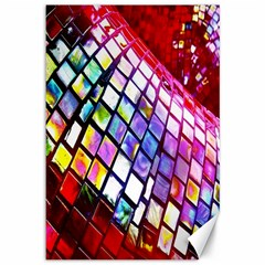 Multicolor Wall Mosaic Canvas 12  X 18   by Onesevenart