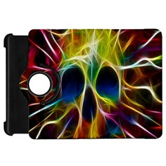 Skulls Multicolor Fractalius Colors Colorful Kindle Fire Hd 7  by Onesevenart