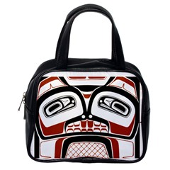 Traditional Northwest Coast Native Art Classic Handbags (One Side) by Onesevenart