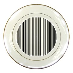 Barcode Pattern Porcelain Plates by Onesevenart