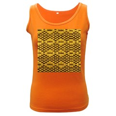 Golden Pattern Fabric Women s Dark Tank Top by Onesevenart