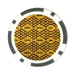 Golden Pattern Fabric Poker Chip Card Guard (10 Pack) by Onesevenart