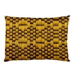 Golden Pattern Fabric Pillow Case (two Sides) by Onesevenart