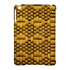 Golden Pattern Fabric Apple Ipad Mini Hardshell Case (compatible With Smart Cover) by Onesevenart