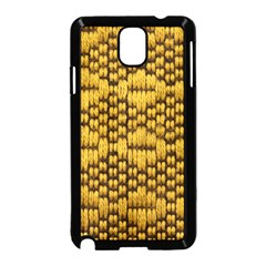 Golden Pattern Fabric Samsung Galaxy Note 3 Neo Hardshell Case (black) by Onesevenart