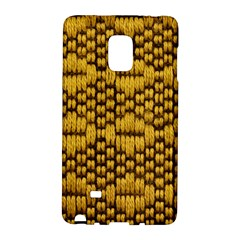 Golden Pattern Fabric Galaxy Note Edge by Onesevenart