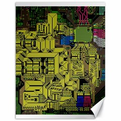 Technology Circuit Board Canvas 18  X 24   by Onesevenart