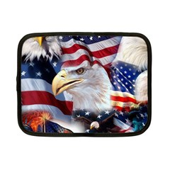 United States Of America Images Independence Day Netbook Case (Small)  by Onesevenart