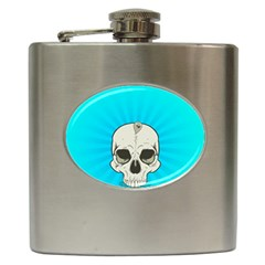 Skull Ball Line Schedule Hip Flask (6 Oz) by Simbadda