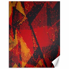 Surface Line Pattern Red Canvas 12  X 16   by Simbadda