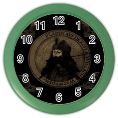 Count Vlad Dracula Color Wall Clocks by Valentinaart