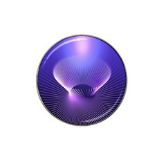 Abstract Fractal 3d Purple Artistic Pattern Line Hat Clip Ball Marker by Simbadda